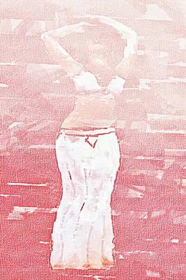 Traditional Folk Dance Digital Art - Belly Dancer In Art by Govindji Patel