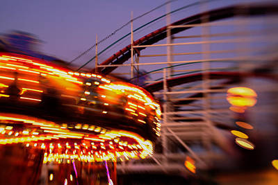 Rollercoaster Photograph - Did I Dream It Belmont Park Rollercoaster by Scott Campbell