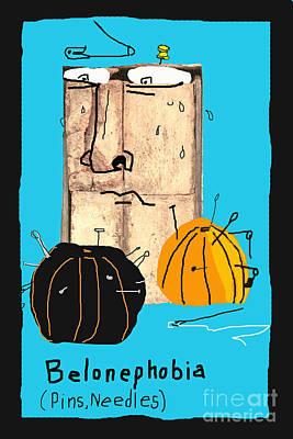 Belonephobia Print by Joe Jake Pratt