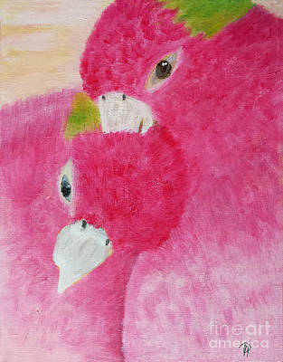 Lovebird Painting - Beloved by Donna May