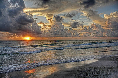 Beloved - Florida Sunset Print by HH Photography of Florida