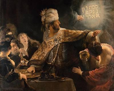 Belshazzar's Feast Print by Rembrandt van Rijn