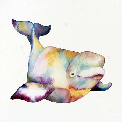 Beluga I Print by Michelle Scott