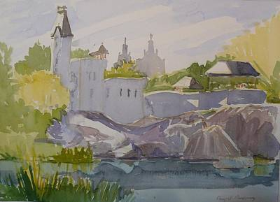 Belvedere Castle Central Park Ny Original by Margaret Montgomery