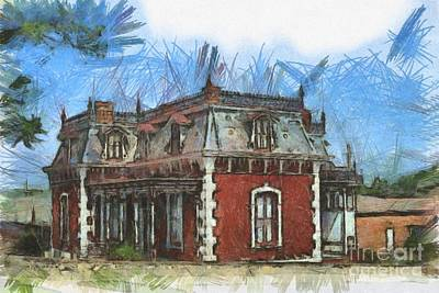Historic Site Drawing - Ben Ferrel Museum  by Liane Wright