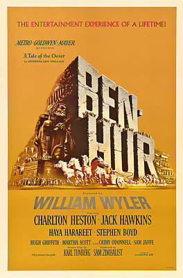Action Drawing - Ben Hur Movie Poster by Mountain Dreams