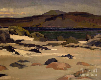 Scottish Colourist Painting - Ben More From Cows Rock by Francis Campbell Boileau Cadell