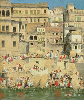 Asia Painting - Benares by Mortimer Ludington Menpes