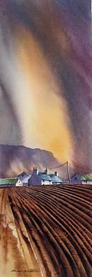 Benbulbin Farm Print by Roland Byrne