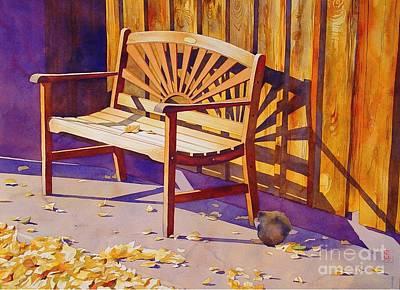 Prescott Painting - Bench At Sharlot Hall by Robert Hooper