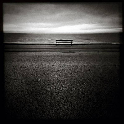 Benches Photograph - Sea View by Dave Bowman