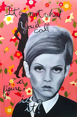 Twiggy Painting - Benchmark Of Beauty IIi by Nique Arr