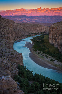 Bend In The Rio Grande Print by Inge Johnsson