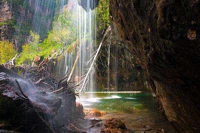 Beneath The Falls At Hanging Lake Colorado Print by John Hoffman
