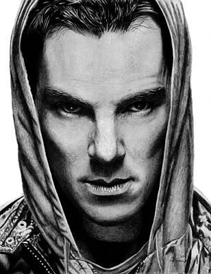 Hoodies Drawing - Benedict Cumberbatch by Kayleigh Semeniuk