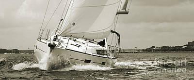 Sailboat Photograph - Beneteau Oceanis 45 Hull #1 by Dustin K Ryan