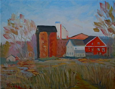 Benfield's Mill Print by Francine Frank