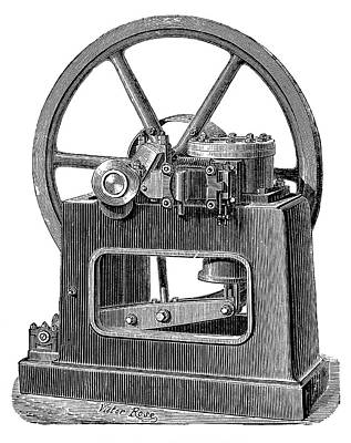 1880s Photograph - Benier Gas Engine by Science Photo Library