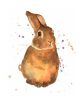 Rabbit Painting - Benjamin Bunny by Alison Fennell