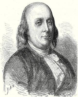 Benjamin Franklin Drawing - Benjamin Franklin by English School