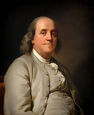 Inventor Painting - Benjamin Franklin by Mountain Dreams