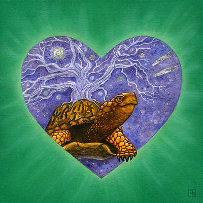Turtle Mixed Media - Benjamin by Lisa Kretchman
