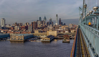 Philadelphia Skyline Mixed Media - Bens Way In by Capt Gerry Hare