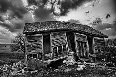 Decrepit Photograph - Bent Farmstead by Thomas Zimmerman