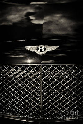 Bentley Continental Gt Sepia Print by Tim Gainey