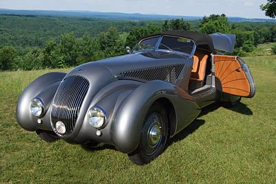 Bentley Roadster B25gp Print by Bill Dutting