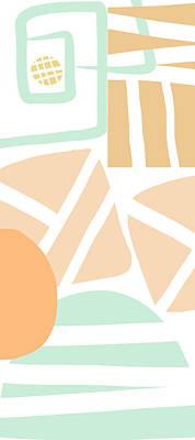 Designer Mixed Media - Bento 3- Abstract Shapes Art by Linda Woods