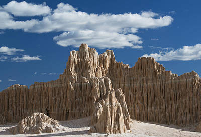 Bentonite Clay Formations Cathedral Print by Kevin Schafer