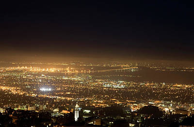 Berkeley At Night Print by Peter Menzel