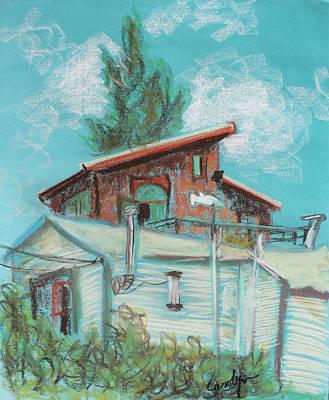 Berkeley Neighbor Houses On A Sunny Day Original by Asha Carolyn Young