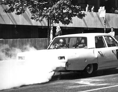 Berkeley Police Pepper Gas Print by Underwood Archives Thornton