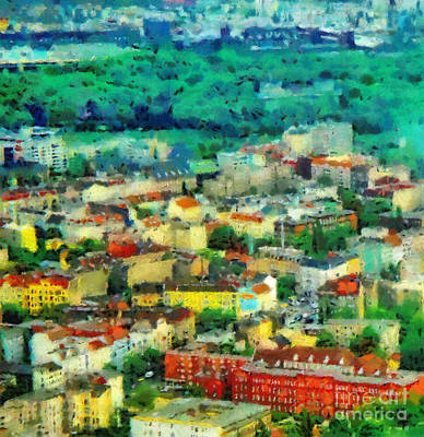 Berlin Germany Painting - Berlin Aerial View by Magomed Magomedagaev
