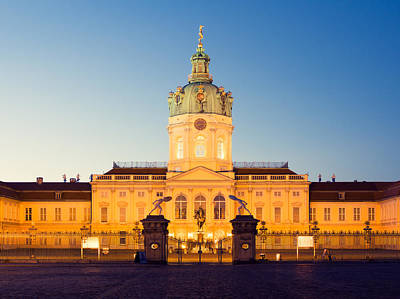 Berlin Charlottenburg Palace At Night Print by Alexander Voss