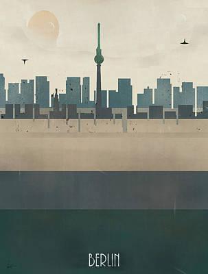 Berlin Germany Painting - Berlin Germany Skyline by Bri B