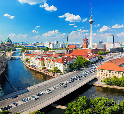 Sightseeing Photograph - Berlin Germany View On Major Landmarks by Michal Bednarek