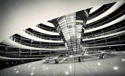 Berlin Photograph - Berlin Reichstag Dome by Alexander Voss
