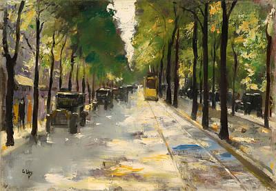 Berlin Germany Painting - Berlin Street 1920s by Mountain Dreams