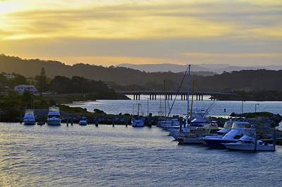 Bermagui River Sunset Print by Marty  Cobcroft