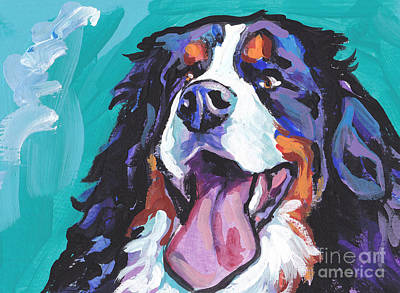 Puppy Painting - Berner All Smiles by Lea S