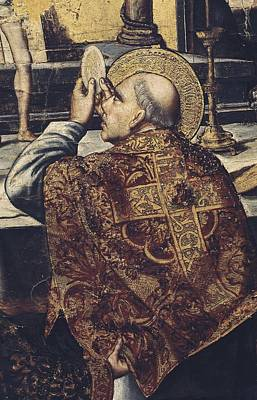Hagiography Photograph - Berruguete, Pedro 1450-1504. Mass by Everett