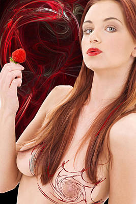 Woman Photograph - Berry Delightful by Sylvia Thornton