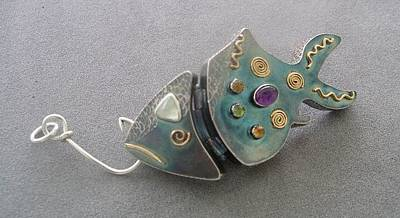 Fish Jewlery Jewelry - Bert by Beverly Fox