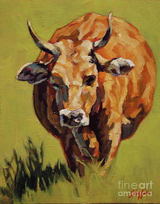 Steer Painting - Bertha by Patricia A Griffin