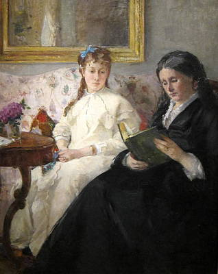 Girl Painting - The Mother And Sister Of The Artist by Berthe Morisot