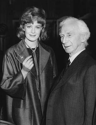 Bertrand Russell And Redgrave Print by Underwood Archives