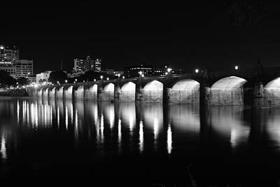 Beside The Bridge At Night.. Print by Rob Luzier